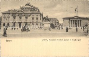 Geneve GE Theater Monument General Dufour Museum Rath Kat. Geneve