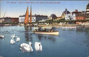 Geneve GE Quai du Mont Blanc Casino Municipal Kursaal Kat. Geneve