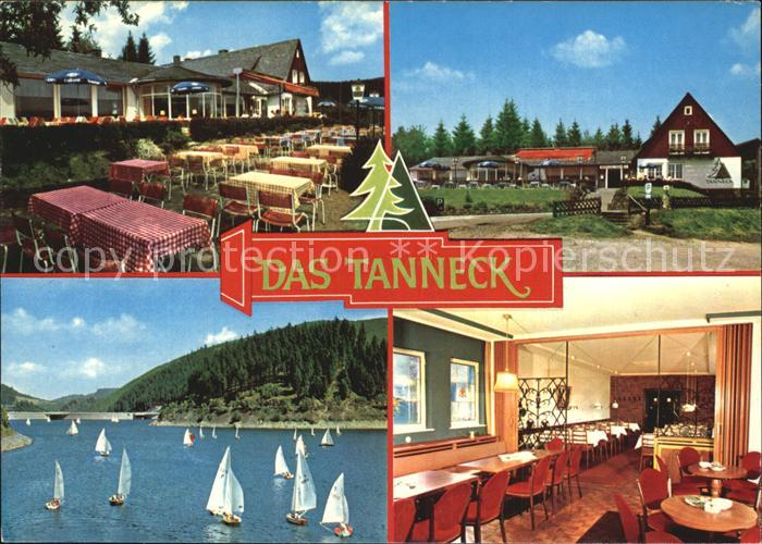 Schulenberg Oberharz Das Tanneck Hotel Restaurant Kaffeeterrasse See Kat. Schulenberg im Oberharz