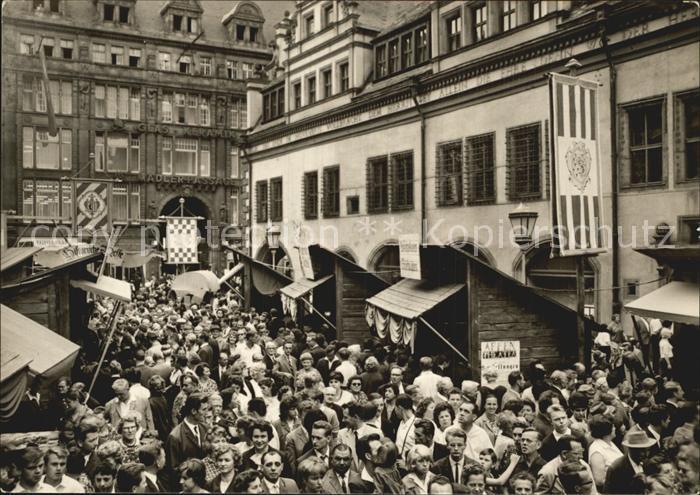 Leipzig Historische Messe um 1820 auf dem Naschmarkt Kat. Leipzig