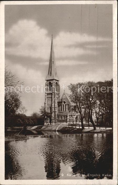 Kobenhavn Engelsk Kirke Kirche Kat. Kopenhagen