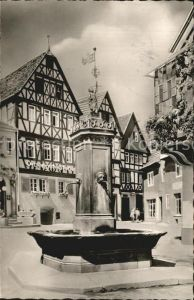 Bad Orb Marktplatz mit Brunnen Kat. Bad Orb