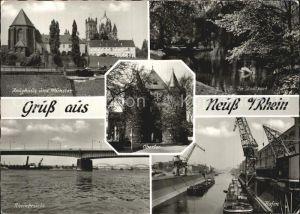 Neuss Zeughaus Muenster Rheinbruecke Hafen Obertor Kat. Neuss