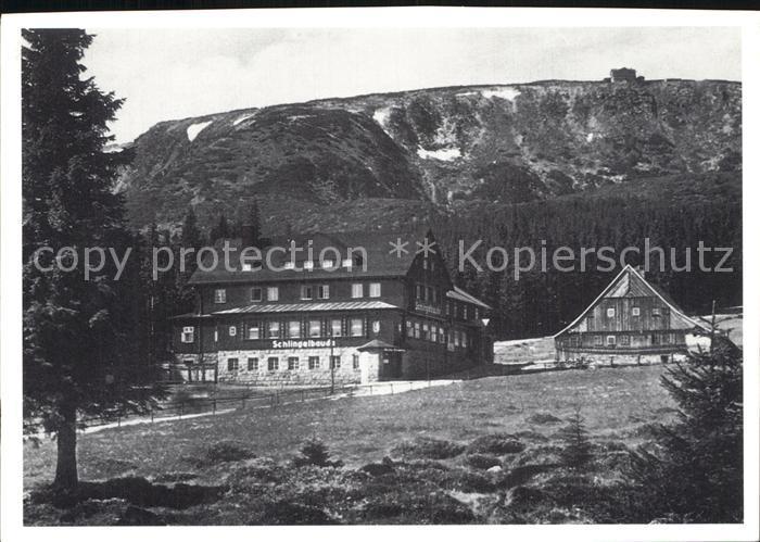 Riesengebirge Schlingelbaude mit Prinz Heinrich Baude Kat. Tschechische Republik