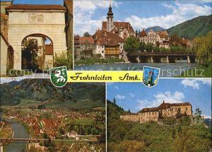 Frohnleiten Bruckentor Murbruecke Burg Rabenstein Kat. Frohnleiten