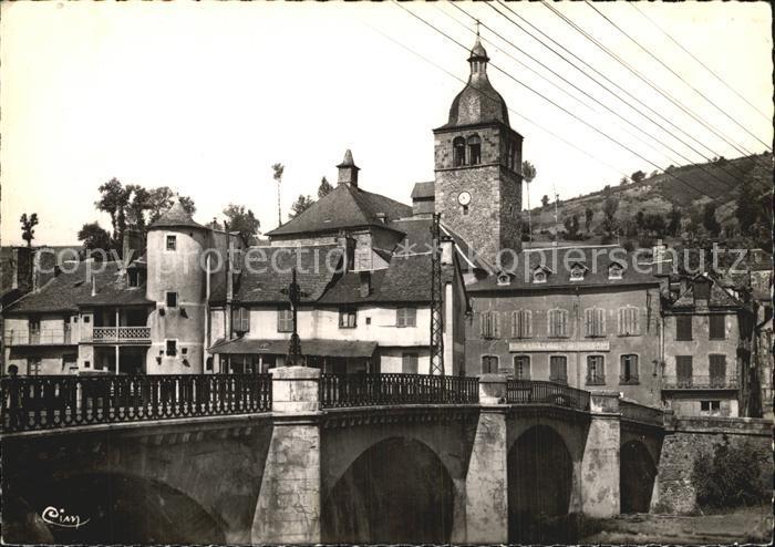 St Geniez Dolt Pont sur le Lot et le Clocher Kat. Lourdes