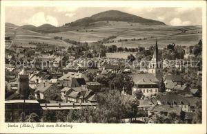 Vacha Ortsansicht mit Kirche Blick zum Ulsterberg Kat. Vacha