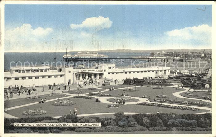 Morecambe Lancashire Swimming Stadium and Central Pier Kat. City of Lancaster