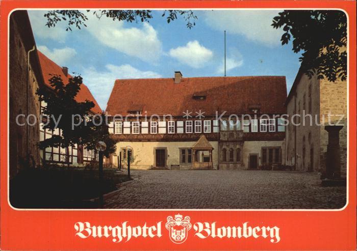Blomberg Lippe Burghotel Blomberg Burghof Kat. Blomberg