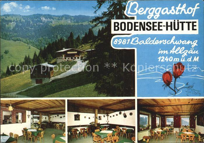 Balderschwang Berggasthof Bodenseehuette Gastraeume Kat. Balderschwang