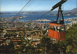 Toulon Var Vue generale Le Telepherique du Faron Kat. Toulon