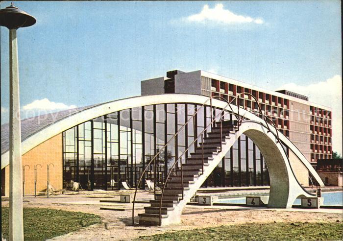 Hajduszoboszlo  Schwimmbad Erholungsheim Beke der Gewerkschaften Kat. Ungarn