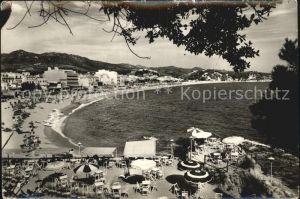 Lloret de Mar Vista general de la playa Serie 3 No 5 Kat. Costa Brava Spanien