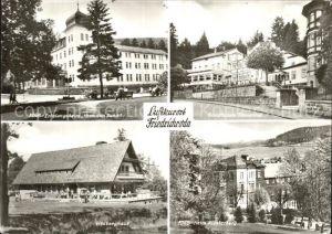 Friedrichroda FDGB Erholungsheim Sanatorium Tannenhof Heuberghaus Kat. Friedrichroda