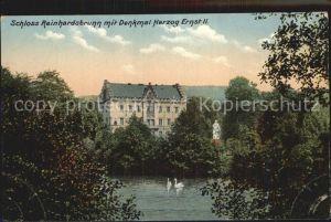 Reinhardsbrunn Schloss Denkmal Herzog Ernst II Kat. Friedrichroda