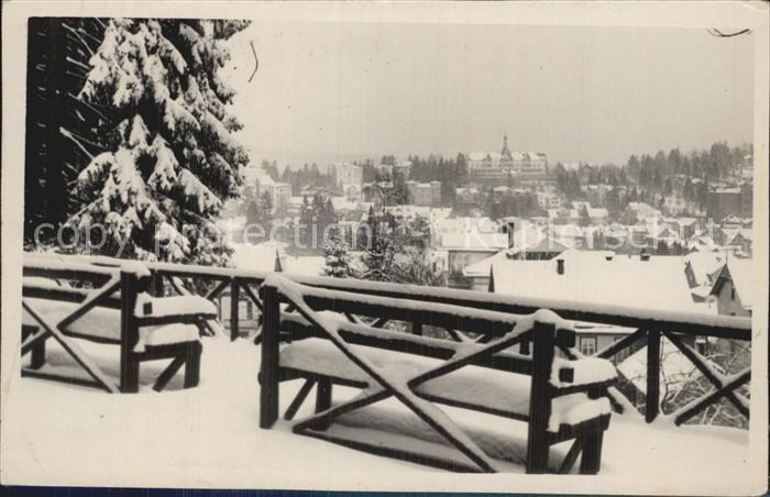 Friedrichroda Panorama Winter Kat. Friedrichroda