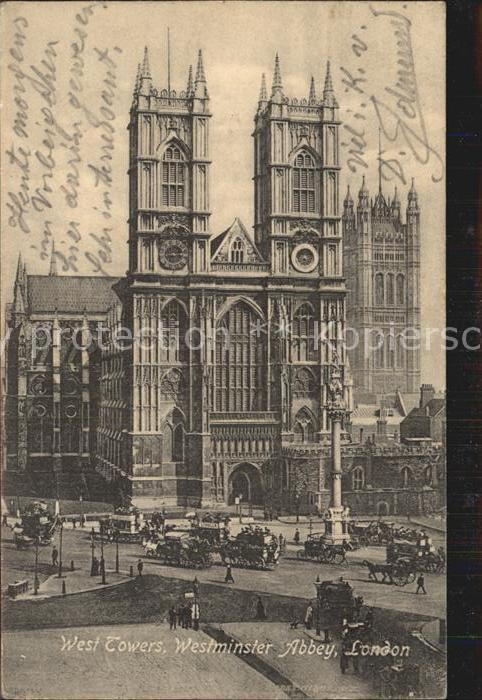 London West Towers Westminster Abbey Kat. City of London