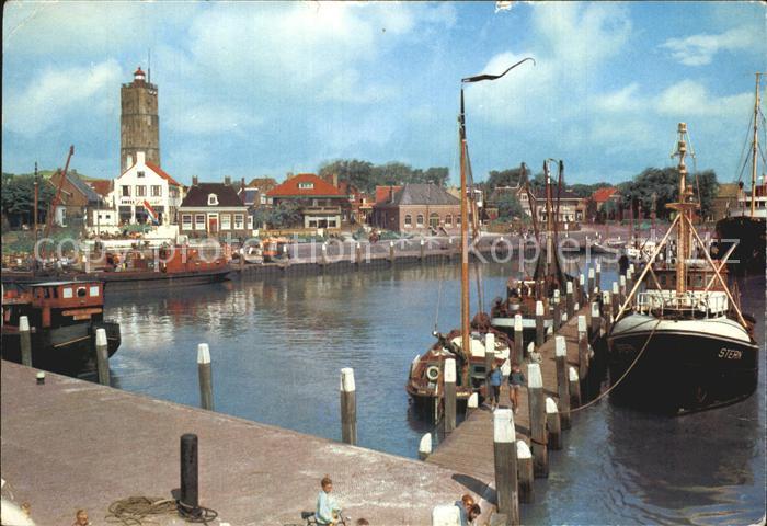 Terschelling Hafenansicht Kat. Niederlande