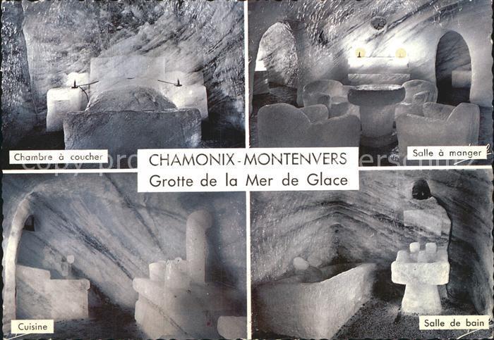 Chamonix Grotte de la Mer de Glace Chambre a coucher Salle a manger Cuisine  Salle de bain Kat. Chamonix Mont Blanc