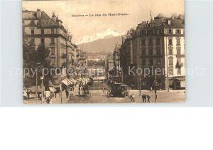 Geneve GE La rue du Mont Blanc Kat. Geneve