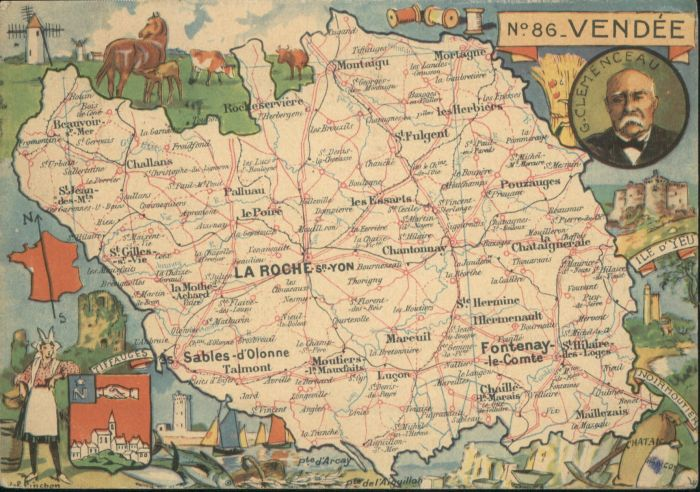 Fontenay-le-Comte Mareuil Vendee Landkarte x / Fontenay-le-Comte /Arrond. de Fontenay-le-Comte