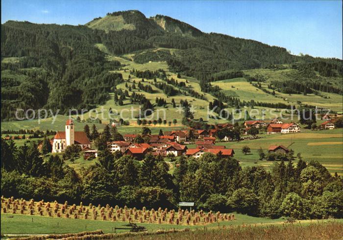 Maria Rain Allgaeu Wallfahrtskirche mit Alpspitze Kat. Mittelberg Oy