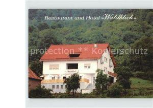 Treffurt Werra Restaurant Waldblick  Kat. Treffurt
