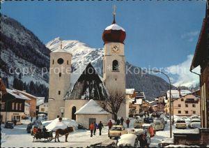 St Anton Arlberg Dorfmotiv Kirche Kat. St. Anton am Arlberg