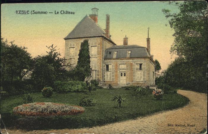 Nesle Somme Chateau / Nesle /Arrond. de Peronne