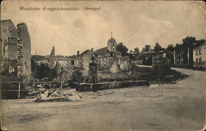 Bremenil Westlicher Kriegsschauplatz / Bremenil /Arrond. de Luneville