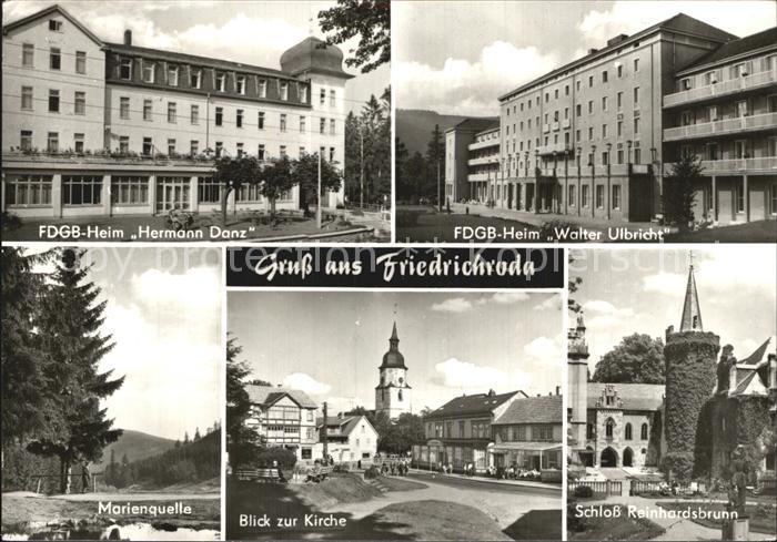Friedrichroda FDGB Heim Hermann Danz Walter Ulbricht Marienquelle Kirche Schloss Kat. Friedrichroda