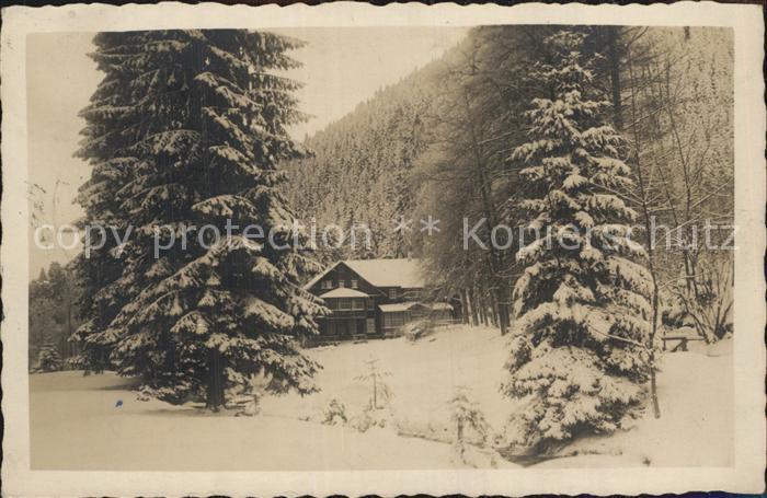 Friedrichroda Schweizerhaus Winter Kat. Friedrichroda