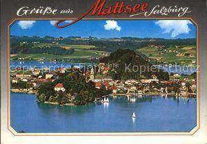 Mattsee Salzburg Fliegeraufnahme Kat. Mattsee