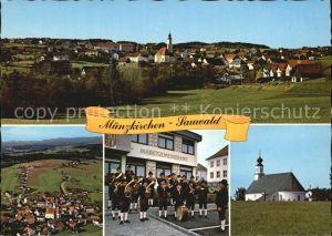 Muenzkirchen im Sauwald Panorama Fliegeraufnahme Blaskapelle Kirche Kat. Muenzkirchen