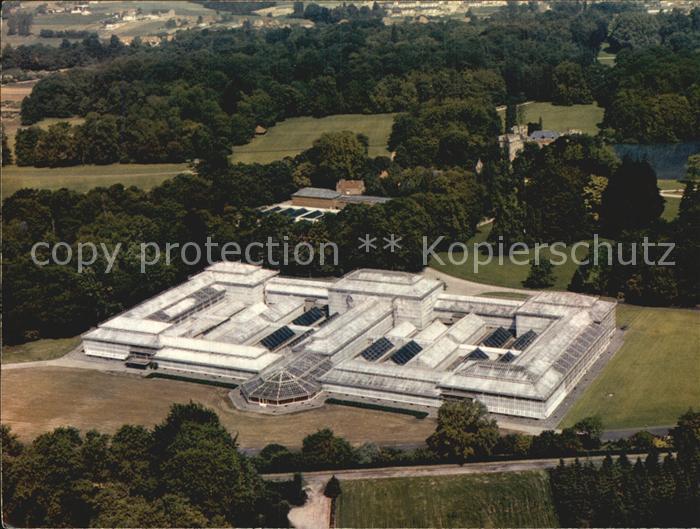 Meise Nationale Plantentuin van Belgie Palais des Plantes vue aerienne Kat.