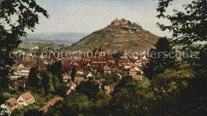 Staufen Breisgau Panorama Fauststadt mit Burg Kat. Staufen im Breisgau