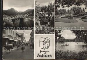 Friedrichroda Kuhherde Springbrunnen  Kat. Friedrichroda