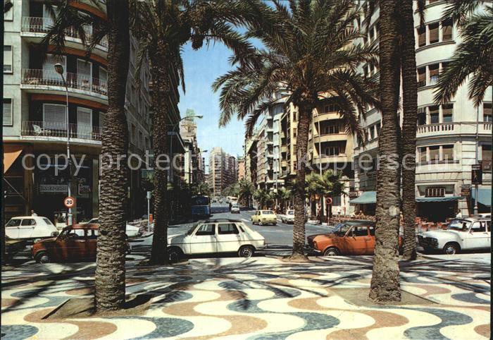 Alicante Paseo Explanada de Espana y Avenida Rambla Mendez Nunez Kat. Alicante