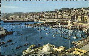 Alger Algerien Fliegeraufnahme Hafen