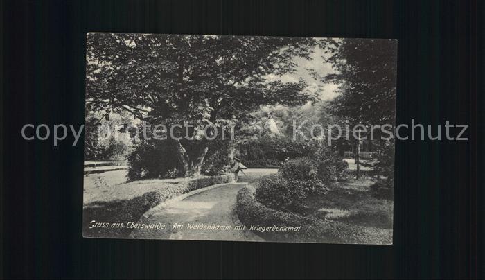 Eberswalde Am Weidendamm mit Kriegerdenkmal Kat. Eberswalde Waldstadt