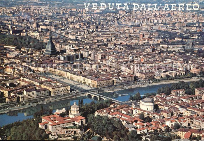 Torino Fliegeraufnahme Piazza Vitt Veneto Mole Antonelliana Kat. Torino