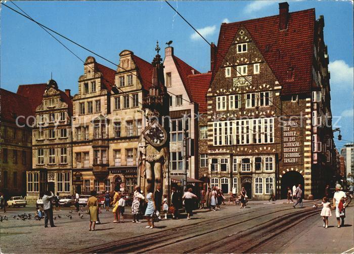 bremen markt ul frauenkirche kat bremen nr kt28793 oldthing ansichtskarten deutschland. Black Bedroom Furniture Sets. Home Design Ideas