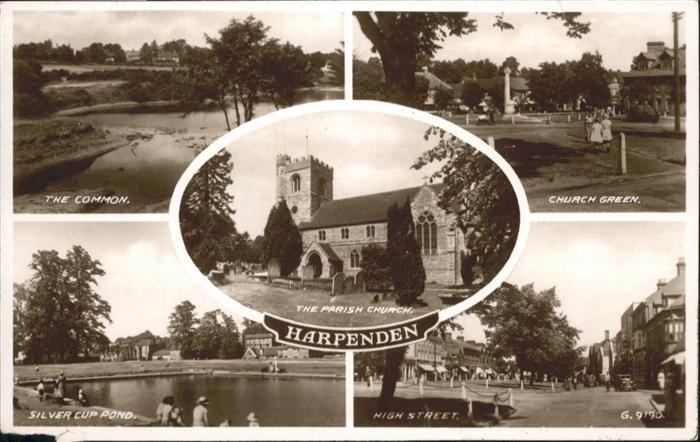Harpenden St Albans Church Green High Street Silver Cup Pond / St Albans /Hertfordshire