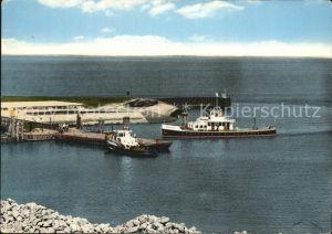 Lauwersoog Hafen veerboot  Kat. De Marne