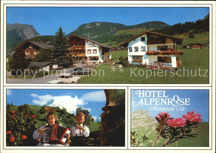Au Bregenzerwald Hotel Alpenrose Musizierende Kinder  Kat. Schoppernau