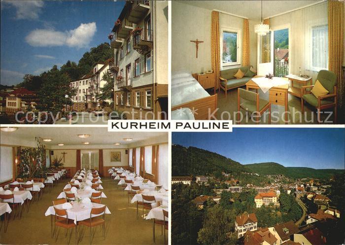 Bad Wildbad Kurheim Pauline Kat. Bad Wildbad