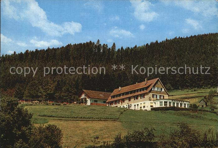 Wildbad Schwarzwald Gasthaus Pension Berghof Kat. Bad Wildbad