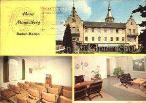 Baden Baden Haus Magnetberg  Kat. Baden Baden