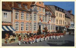 Horsens Jorgensens Hotel med Horsens Garden Garde Musikchor Kat. Horsens