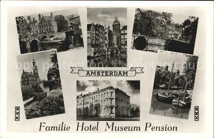Amsterdam Niederlande Familie Hotel Museum Pension Stadhouderskade Rijksmuseum Vondelpark Leidseplein Bondshotel ANWB Kat. Amsterdam